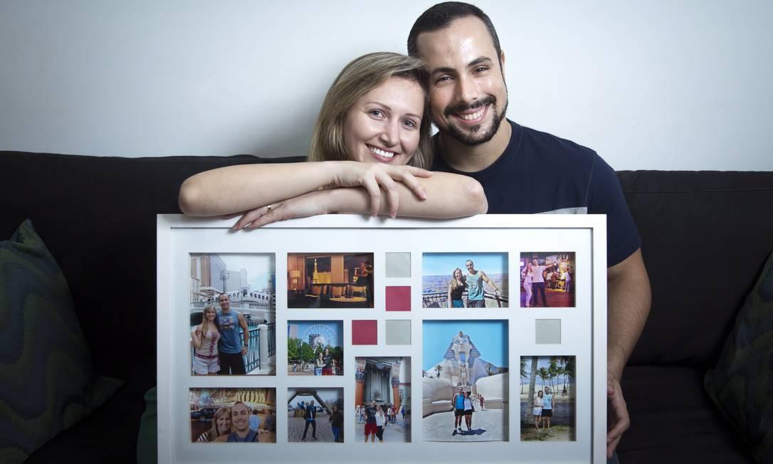 Projetos. Diane e João Rafael são recém-casados e gostam de viajar. Filhos não estão nos planos Foto: Leo Martins / Agência O Globo