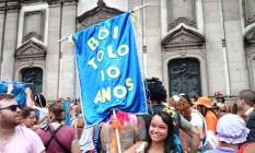 Bloco já desfila há dez anos Foto: Agência O Globo / Amanda Prado