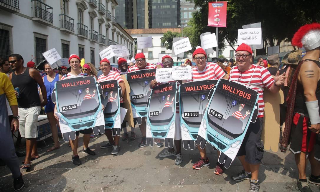 Onde está o Wally, ou melhor, os Wallybus? Fantasia coletiva ironiza reorganização dos ônibus na cidade Rafael Moraes / Agência O Globo