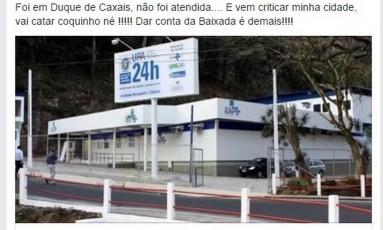 A postagem da secretária Fernanda Ferreira Foto: Reprodução da internet