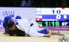 Bicampeã. Mayra Aguiar ganha ouro em sua primeira competição na temporada e se distancia na briga caseira pela caga para Rio-2016 Foto: Gabriela Sabau
