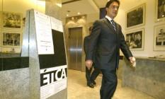 Ex-secretário geral do PT, Sílvio Pereira sai dos holofotes mais uma vez Foto: Ailton de Freitas/11-05-2006 / Agência O Globo