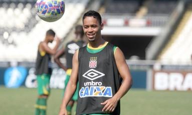 Yago Pikachu durante treino do Vasco em São Januário Foto: Divulgação