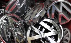 Símbolos da Volkswagen Foto: Michael Sohn/AP