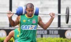 Julio Cesar no treino físico de domingo Foto: Divulgação