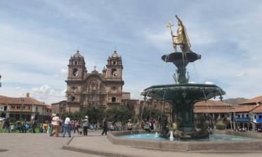 Plaza de Armas de Cusco, no Peru Foto: Cristina Massari / O Globo
