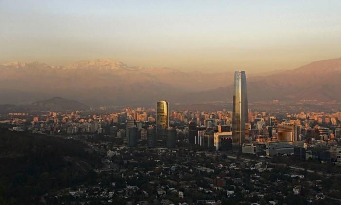 Santiago, capital do Chile Foto: Eduardo Maia / O Globo