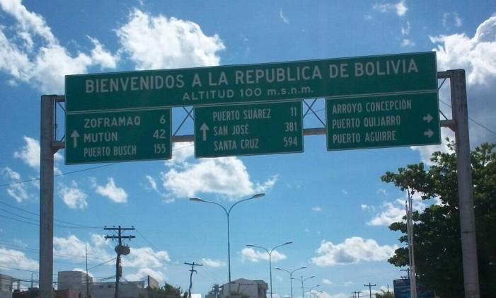Fronteira do Brasil com a Bolívia, em Puerto Quijarro Foto: Reprodução