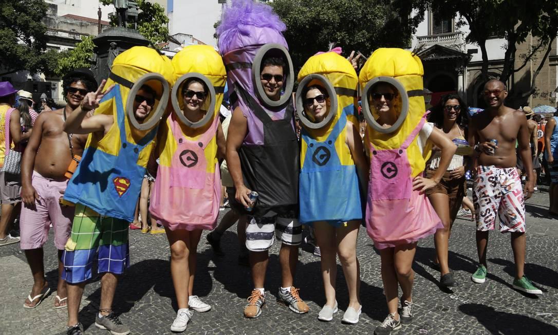 Este quinteto brilho no quesito originalidade no Brasília Amarela, no Largo de Sao Francisco, no Centro Leo Martins / Agência O Globo