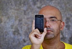 Azar. O professor Luiz Guilherme perdeu o acesso à conta do e-mail Foto: Luiz Ackermann / Luiz Ackermann
