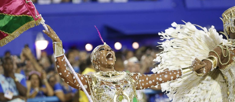 Squel foi muito elogiada por sua apresentação na Mangueira Foto: Guito Moreto / O Globo