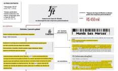 Infográfico mostra trechos de contrato da LFT Marketing Esportivo Foto: Editoria de Arte