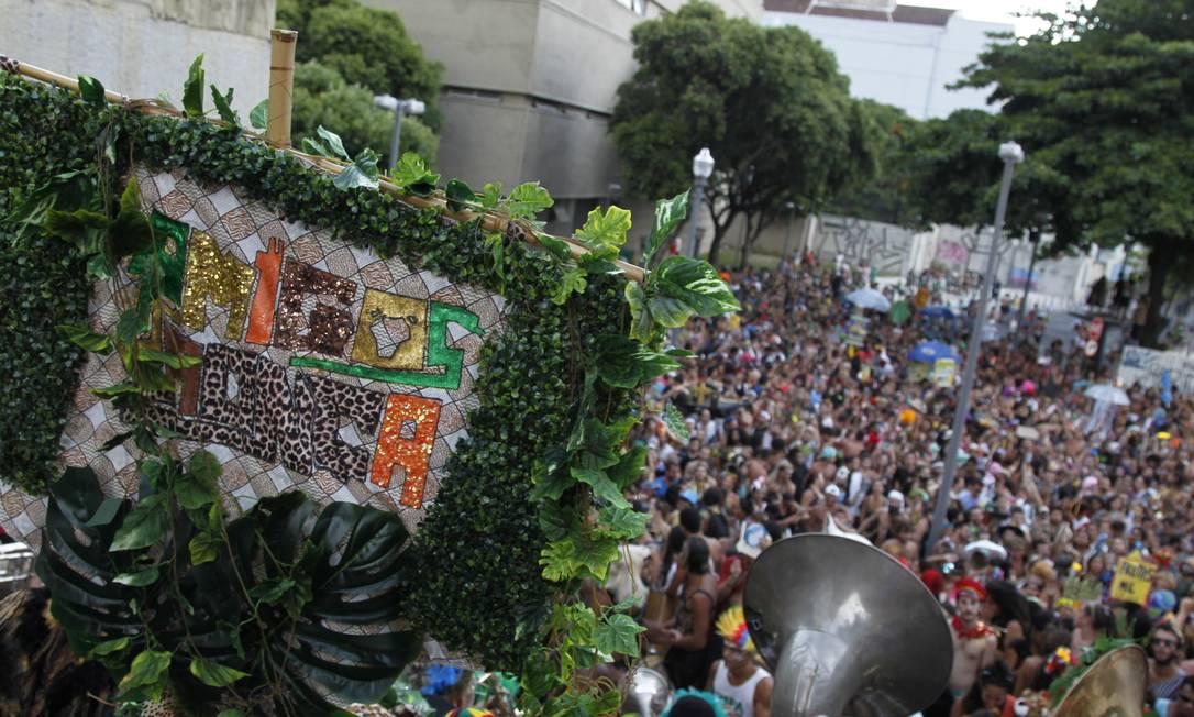 As ruas do Centro do Rio ficaram lotadas Foto: Pedro Teixeira / Agência O Globo