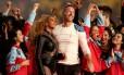 Beyoncé e Chris Martin, do Coldplay, no Super Bowl