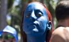 A mutante Mística, personagem da franquia X-Men, está entre nós... Foto: Márcia Foletto/ O Globo