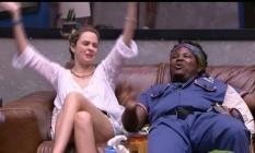 Em paredão do bem, nem Ronan nem Ana Paula foram eliminados Foto: Reprodução - TV Globo