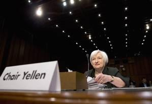 Janet Yellen, presidente do Federal Reserve Foto: Jacquelyn Martin / AP