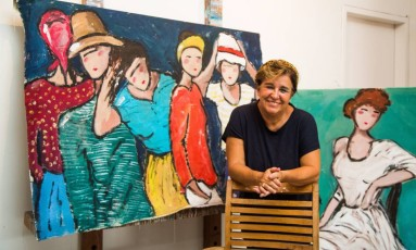 Milu tem telas em vários países europeus Foto: Bárbara Lopes / Agência O Globo
