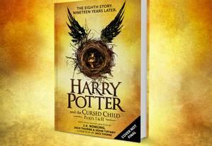 Capa provisória da edição inglesa de 'Harry Potter e a criança amaldiçoada' Foto: Reprodução/Pottermore