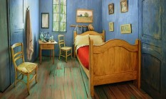 """O quarto decorado baseado na obra """"O quarto em Arles"""" Foto: Reprodução"""
