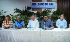 Delegação das Farc para negociações de paz se reúne em Havana, capital de Cuba Foto: ADALBERTO ROQUE / AFP