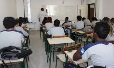 Sala de aula de escola estadual em Duque de Caxias, na Baixada Fluminense Foto: Divulgação/Marcia Costa