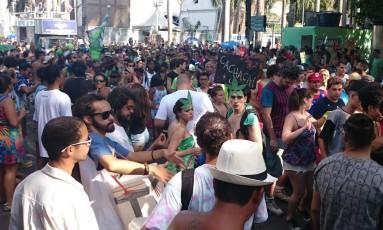 Bloco vai dos Arcos da Lapa até a Praça Tiradentes Foto: Patrícia Vivas / Agência O Globo