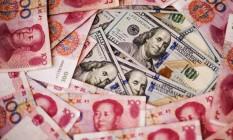 Saída de capital na China deve ter somado US$ 113 bilhões em janeiro, segundo IIF Foto: Xaume Olleros / Bloomberg