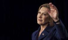 Carly Fiorina faz discurso de campanha em Iowa Foto: BRIAN FRANK / REUTERS