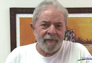 Lula grava vídeo para o aniversário de 36 anos do PT Foto: Reprodução
