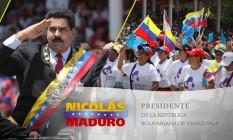 Maduro adota imagem de Chávez em foto de capa no Facebook Foto: Reprodução