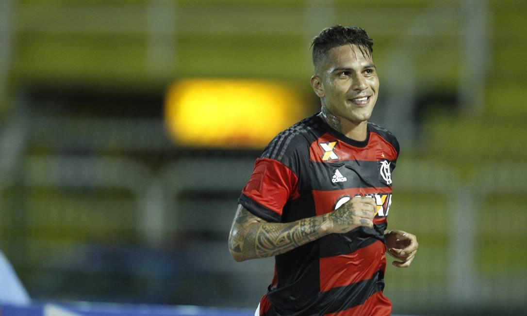A alegria de Guerrero ao marcar seu segundo gol no Carioca Divulgação