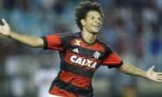 Com dois gols, Arão foi o artilheiro da noite, em Volta Redonda Foto: Divulgação - Flamengo