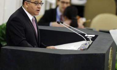 O ex-presidente de El Salvador, Mauricio Funes, é investigado por não comprovação de US$ 700 mil Foto: Frank Franklin II / AP