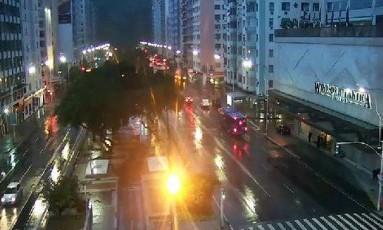 Tempo chuvoso na Zona Sul do Rio Foto: Ariana Apolinário / Centro de Operações Rio (Divulgação)