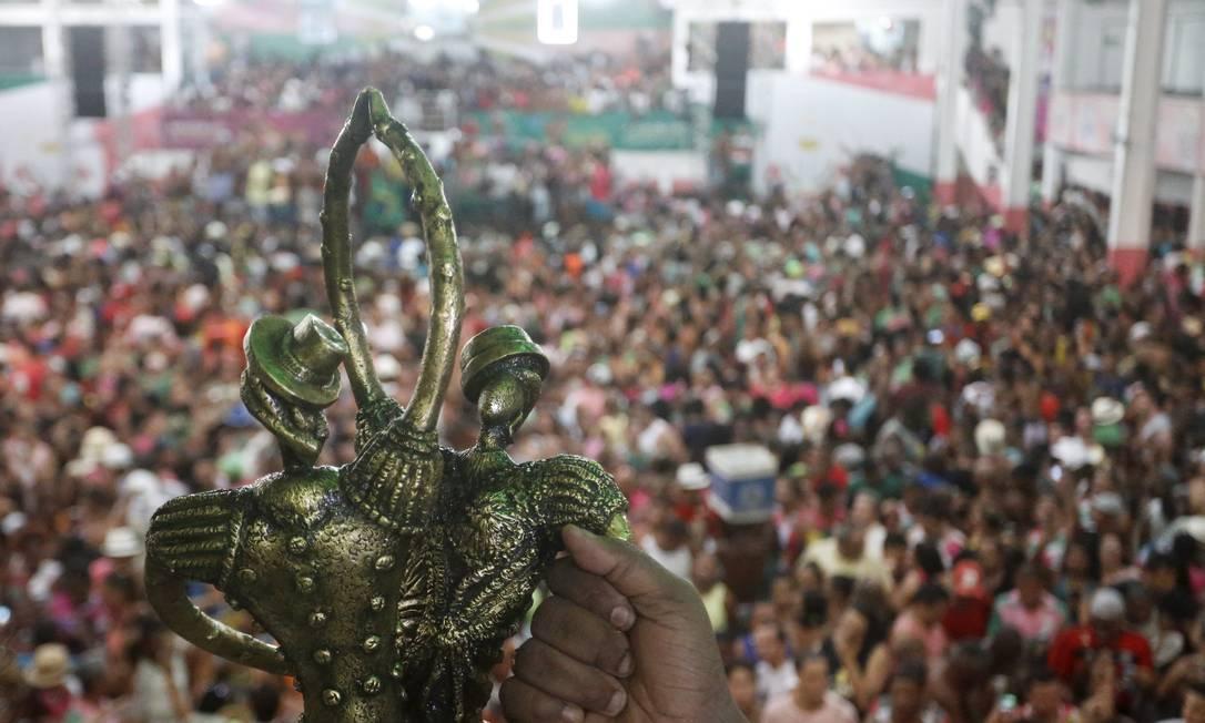 Festa na quadra da Mangueira após resultado do carnaval 2016 Gabriel de Paiva / Agência O Globo