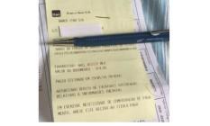 Recibo em papel: dados costumam apagar e fica difícil comprovar depois o pagamento Foto: Reprodução