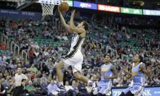 Raulzinho é o único brasileiro no jogo dos calouros da NBA Foto: AP/Rick Bowmer