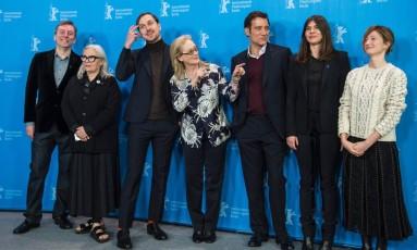Integrantes do júri do Festival de Berlim 2016 Foto: JOHN MACDOUGALL / AFP