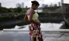 Moradora do Recife, Eritania Maria está grávida de seis meses Foto: Ueslei Marcelino / Reuters