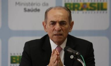 O ministro da Saúde, Marcelo Castro, fala sobre estudos com vacina contra zika Foto: Michel Filho / O Globo