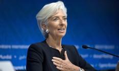 Christine Lagarde, diretora-gerente do FMI Foto: Rodrigo Abd / AP