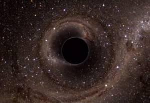 Ondas gravitacionais são geradas por colisões de buracos negros Foto: Divulgação de vídeo do LIGO