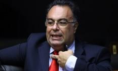 André Vargas, então deputado, no plenário da Câmara em 2014 Foto: André Coelho / Agência O Globo