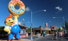"""Área dedidaca à serie """"Os Simpsons"""" no Universal Orlando Foto: Divulgação"""