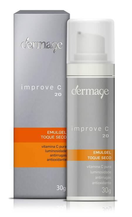 Improve C 20 da Dermage (www.dermage.com.br), R$ 198,70 o frasco de 30g. Com vitamina C pura (L-Ascorbico) , estabilizada e micronizada a 20%, o Improve C 20 previne e trata o fotoenvelhecimento cutâneo e atenua as rugas (finas e moderadas). Benefícios: Potente ação antioxidante; Restaura a luminosidade da pele fotoenvelhecida; Estimula a síntese de colágeno e elastina Foto: Divulgação