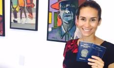A diretora de produtos de learning Raquel Oliveira preparou o enxoval de seu bebê nos EUA Foto: Aquivo pessoal / Aquivo pessoal