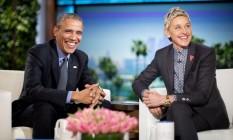 Presidente Barack Obama participa do programa da apresentadora Ellen Degeneres na TV americana Foto: Pablo Martinez Monsivais / AP