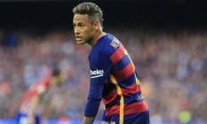 Neymar em campo pelo Barcelona: jogador é acusado de sonegar impostos Foto: Pau Barrena / AFP