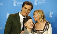Os atores Michael Shannon, Jaeden Lieberher e Kirsten Dunst estão em 'Midnight special' Foto: Axel Schmidt/AP